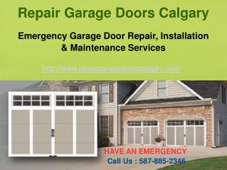 Calgary Garage Door Repair Services � Repair Garage Doors Calgary