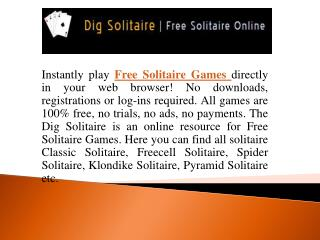 Free Solitaire Games Online