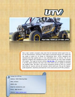 Buy Side By Side UTV Parts and Accessories