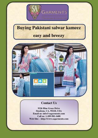 Buying Pakistani salwar kameez easy and breezy
