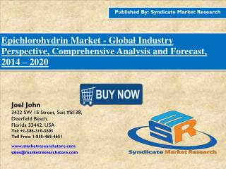 Epichlorohydrin Market Industry Perspective, Comprehensive Analysis and Forecast, 2016 – 2020
