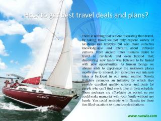 Naswiz Holidays Complaints & Reviews - How to get best travel deals and plans?