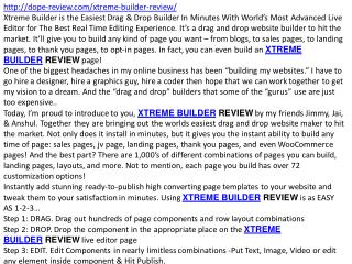 XTREME BUILDER review and bonus