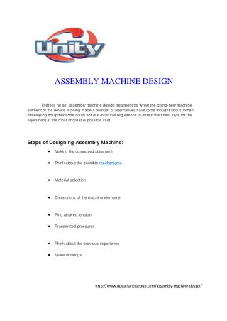 ASSEMBLY MACHINE DESIGN MALAYSIA