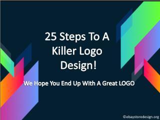 25 steps to a killer logo design