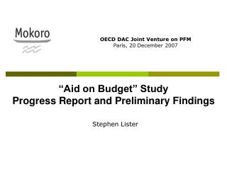 Aid on Budget  Study Progress Report and Preliminary Findings