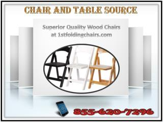 Superior Quality Wood Chairs at 1stfoldingchairs.com