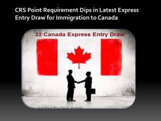CRS Point Requirement Dips in Latest Express Entry Draw for Immigration to Canada