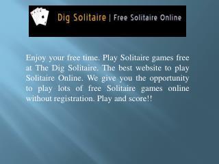 Enjoy Solitaire Online