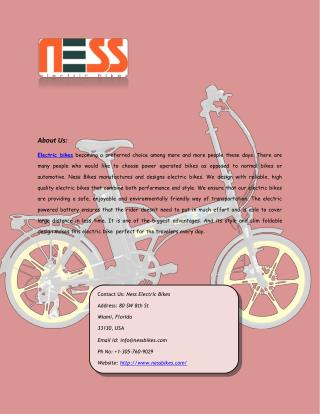 Buy Electric Bike