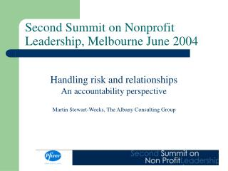 Second Summit on Nonprofit Leadership, Melbourne June 2004