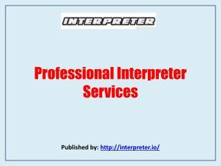 Professional Interpreter Services