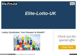Lottery Syndicates: Your Passport to Wealth?