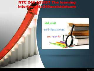 NTC 249 ASSIST The learning interface/ntc249assistdotcom
