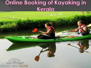Advance Online Book kayaking in kerala India