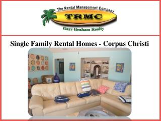 Single Family Rental Homes - Corpus Christi