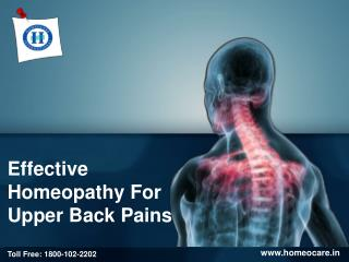 Upper Back Pain - Causes, Symptoms and Treatment in Homeopathy