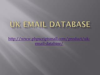 UK Email Database