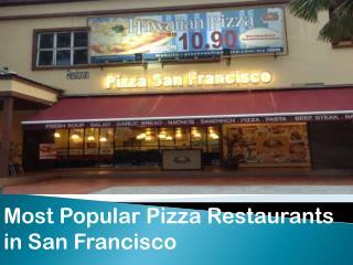 Pizza Restaurant In San Francisco