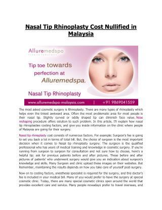 Rhinoplasty Surgery Malaysia