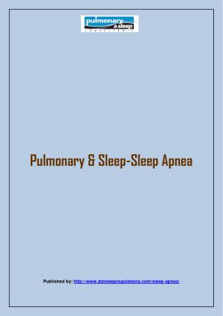 Pulmonary & Sleep-Sleep Apnea
