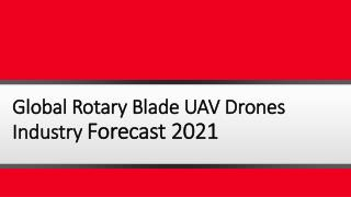 Global Rotary Blade UAV Drones Industry: Upcoming Opportunities, Market Trends and Forecast Report 2016-2021