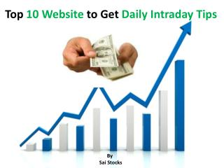 10 Website to Get Free Intraday Tips
