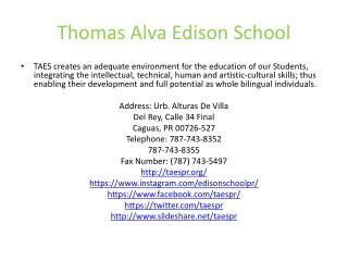 Thomas Alva Edison School