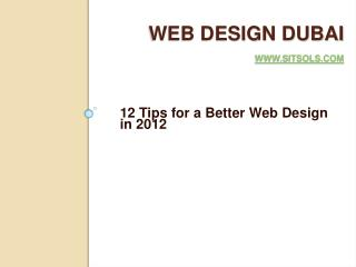 12 Tips for a Better Web Design in 2012