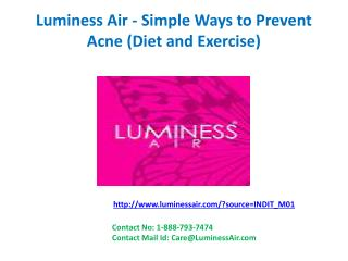 Luminess Air - Simple Ways to Prevent Acne (Diet and Exercise)