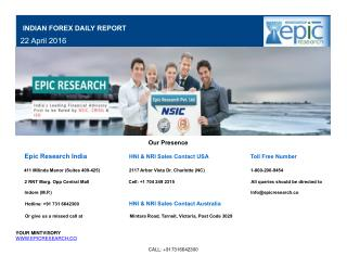 Epic Research Daily Forex Report 22 April 2016