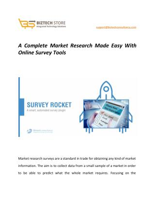 A Complete Market Research Made Easy With Online Survey Tools