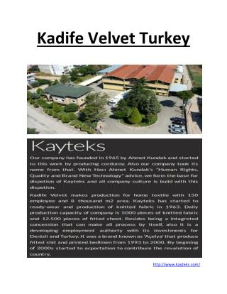 Kadife Velvet Turkey