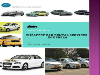 Kerala car rental -  cheapest car rental services in kerala
