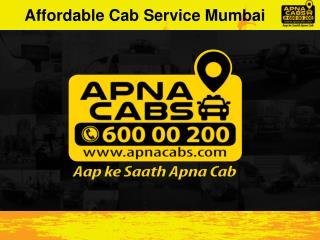 Affordable Cab Service Mumbai