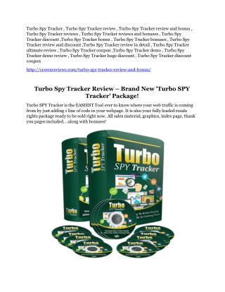 Turbo Spy Tracker detail review
