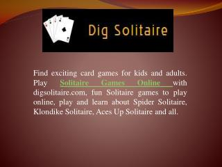 Solitaire Games Online - Dig Solitaire
