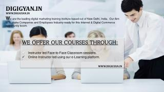 Digital Marketing Training & Courses | Delhi By Digigyan.in