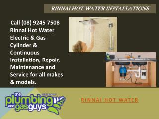 Rinnai Hot Water Installations