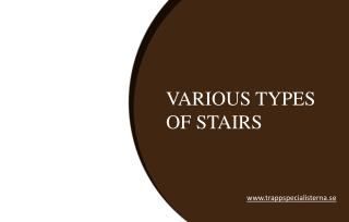 Some Common Types of Staircase Designs