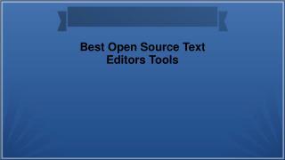 Best Open Source Text Editors Tools