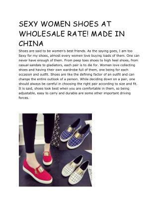 SEXY WOMEN SHOES AT WHOLESALE RATE! MADE IN CHINA