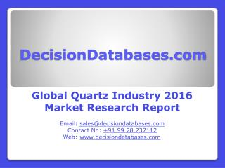 Quartz Market Global Analysis and Forecasts 2021