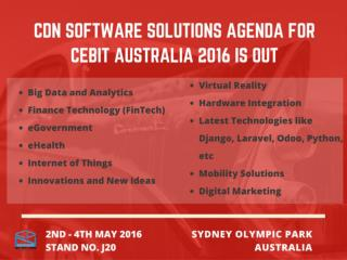 CDN Software Solutions Agenda for CeBIT Australia 2016 is Out