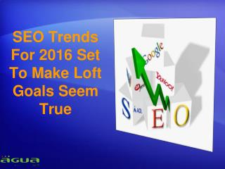 SEO Trends For 2016 Set To Make Loft Goals Seem True