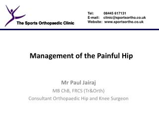 Management of the Painful Hip