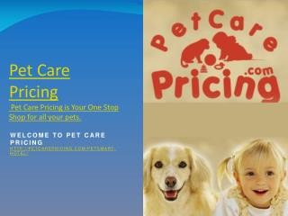 Pet Care Pricing