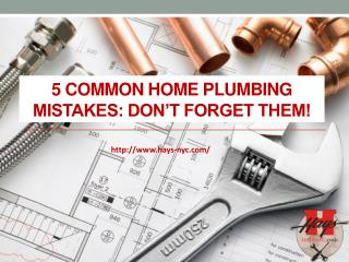5 Common Home Plumbing Mistakes: Don't forget them!