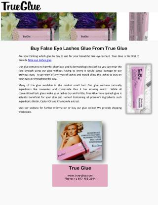 Buy False Eye Lashes Glue From True Glue