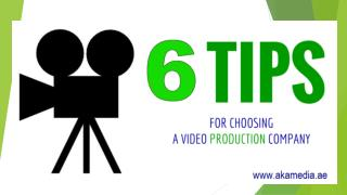 Top Leading Video Production Company  Dubai